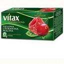Herbata Vitax  Zielona malina/żuraw. 20TB/30g