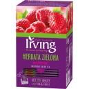 Herbata Irving zielona malinowa 20 kopert