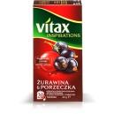 Herbata Vitax Inspirations Żurawina&Cz.Porzeczka 20TB/40g
